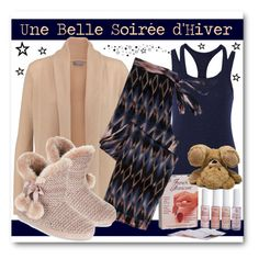 """""""Une Belle Soirée d'Hiver"""" by drinouchou ❤ liked on Polyvore featuring Bailey 44, N.Peal, Asceno and Monsoon"""