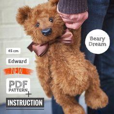 Teddy Bear Names, Diy Teddy Bear, Vintage Teddy Bears, Teddy Bear Clothes, Teddy Bear Patterns Free, Teddy Bear Sewing Pattern, Sewing Patterns Free, Clothes Patterns, Sewing Stuffed Animals