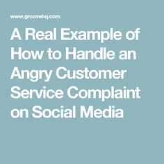 A Real Example of How to Handle an Angry Customer Service Complaint on Social Media Customer Complaints, Customer Service, Ecommerce, Handle, Social Media, Customer Support, Social Networks, E Commerce, Door Knob