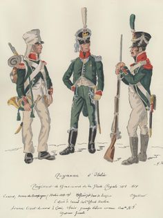 Chasseurs of the Royal Guard Naples, Kingdom Of Italy, War Drums, Italian Army, National History, Royal Guard, Cacciatore, Empire, Napoleonic Wars