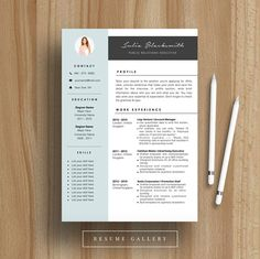 Professional Resume Template  CV Template  For MS Word