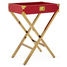 Check out this item at One Kings Lane! Hayward Tray Table, Red