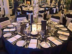 "New 120"" Seamless Round Wedding Tablecloth Black SP   eBay"