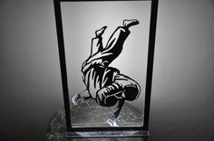 tableau lumineux judoka,en métal,éclairage par ruban a led : Luminaires par blandin
