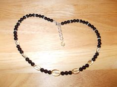 Green amethyst and black agate necklace £9.00