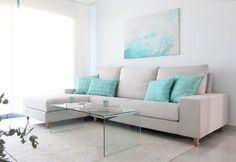 17 ideas para decorar y pintar un salón turquesa