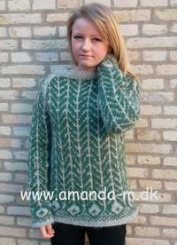 Klik på billedet, for at se et større billede Fair Isle Knitting Patterns, Knit Patterns, Hobbies And Crafts, Knitting Yarn, Knits, Amanda, Crafty, Sweaters, How To Wear