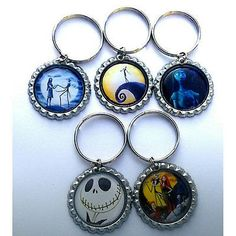 Nightmare before Christmas Party Favor Key chains - MANY AVAILABLE!