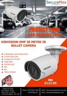 Hikvision 5 Megapixel CCTV Bullet Camera Seller in UK - Home Security Camera - Ideas of Home Security Camera - Hikvision 30 metre IR Bullet Camera Home Security Tips, Wireless Home Security Systems, Security Companies, Security Cameras For Home, Security Products, Security Solutions, Security Surveillance, Security Alarm, Safety And Security