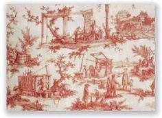 In 1760 Christophe-Philippe Oberkampf, an engraver and colorist from Wurtenberg, established a factory in Jouy-en-Josas printing French toile fabrics of superb quality with dye fast colors. By 1805 it sprawled over 14 hectares with over 1300 workers, becoming the most important factory in Europe.