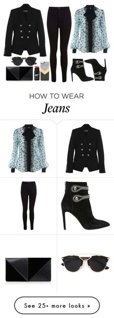 """Dark Wave"" by nicolesynth on Polyvore featuring Balmain, Miss Selfridge, UN United Nude, Pierre Balmain, Christian Dior, D&G and Zero Gravity"