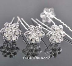 Horquillas Flor de Plata