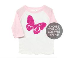 Any Age Butterfly Poly Cotton 3/4 Raglan by SevenMilesPerSecond