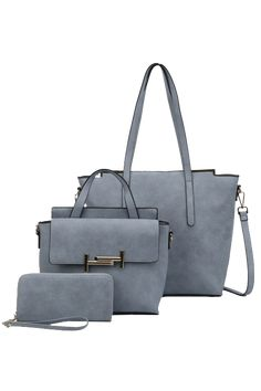 3 In 1 Tote With Crossbody Wallet Set By La Terre Fashion