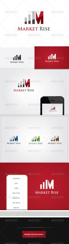 Market Rise M Letter - Logo Design Template Vector #logotype Download it here: http://graphicriver.net/item/market-rise-m-letter-logo/5244734?s_rank=1723?ref=nesto
