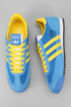 adidas Dragon - blue + yellow stripes