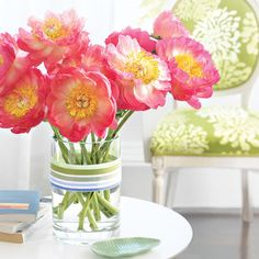 Pamper Mom with peonies this Mother's Day! More Mother's Day Flower Arrangement Ideas: http://www.bhg.com/holidays/mothers-day/gifts/mothers-day-flowers-ideas/?socsrc=bhgpin042812mothersdayflowers