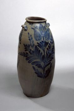 Storage jar (1830) made in Alexandria, Virginia by David Jarbour, one of several free black artisans working at the city's Wilkes Street pottery.