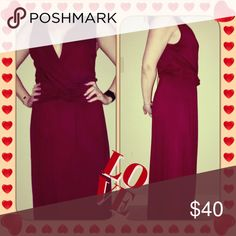 ‼️SALE‼️Loveappella Maxi with a knotted tie front NWT Loveappella Wine Color Long Maxi with knotted tie front. Sleeveless. Never been worn! Loveappella Dresses Maxi