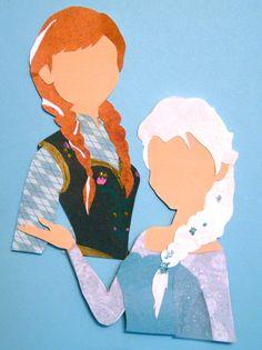 Anna and Elsa Silhou