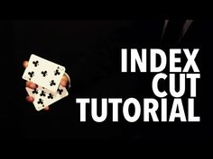 Cardistry for Beginners: One-handed Cuts - Index Cut Tutorial Cool Card Tricks, Magic Tricks, Youtube, Playing Cards, Learning, Spinning, Kids, Ship, Bedroom