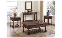 Laredo Rustic Lodge Oak Coffee Table Set – My Furniture Place