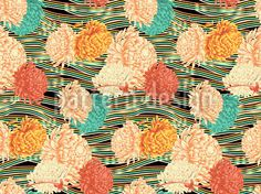 Floral flow pattern designed by Muhammad Fiaz Mughal, available on patterndesigns.com