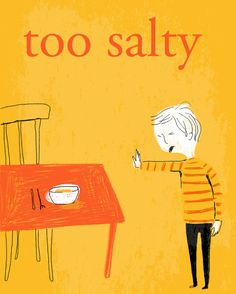 too salty art print