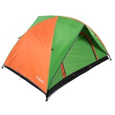 TOMSHOO Double Layer Double Door Camping Tent Leisure Tent. Double layer design, the inner tent can be used separately. With double doors and mesh windows for good ventilation. PU2000MM rainproof polyester fabric with taped seam, UPF 30+ outer tent, keep you safe in rain or sunshine. Lightweight and comes in a carry bag, good choice for outdoor lovers. Note: Color schemes are random due to different product stock. Tent ONLY, camping mat is NOT included in the listing.