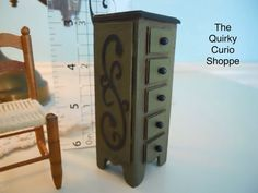 Dollhouse Miniature Apothecary Cabinet by TheQuirkyCurioShoppe