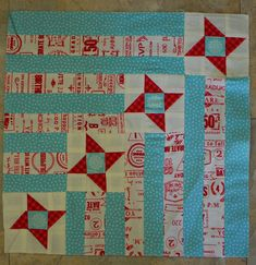 "Aurifil Sept 2014 block by Pat Wys: Stars of My Life, 12"" block, free pattern"