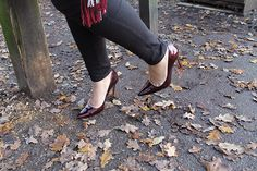 Topshop Burgandy courts featured in my new outfit post!