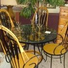 Mid Century Iron Kitchen Set with 4 Matching Chairs $289
