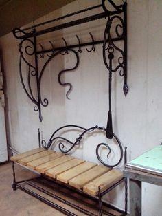 unique bench & coat rack