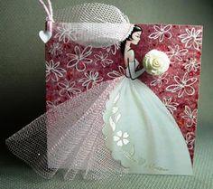 """10 Ten Handmade Bridal Wedding Invitations """"Bride"""" - Invite your Bridesmaids. $100.00, via Etsy."""