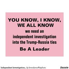 We need an independent, transparent investigation into Trump-Russia ties. #TrumpRussia #ConflictsofInterest