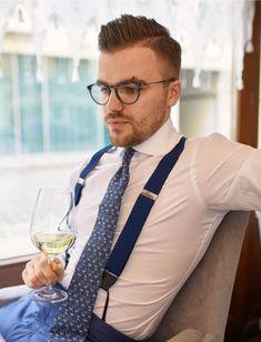 Button Suspenders, Braces Suspenders, Mens Shirt And Tie, Suit And Tie, Mens Attire, Mens Suits, Suit Men, Mens Braces, Classic Suit