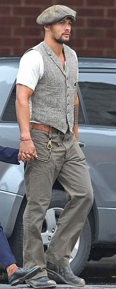 Jason Momoa- love this outfit on him - or any man :-)