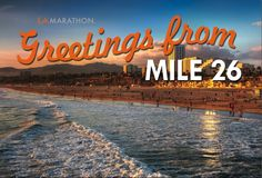 The LA Marathon was my first and last marathon!  Can't go wrong running from Dodger Stadium to the beach!