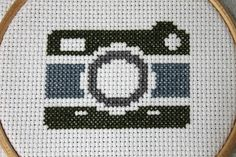 Items similar to Vintage Camera Counted Cross Stitch Kit Pattern Needlecraft on Etsy Cross Stitch Art, Counted Cross Stitch Kits, Cross Stitching, Cross Stitch Embroidery, Embroidery Patterns, Cross Stitch Patterns, Floral Embroidery, Vintage Cameras, Plastic Canvas Patterns