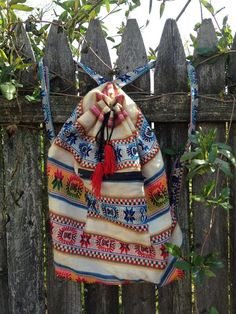 Baltic like ethnic pattern hippie boho bag/backpack by danikillz, $25.00