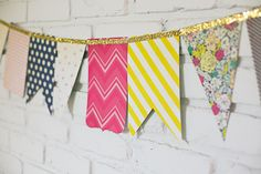Flea Market Party Banner by Katie Ehmann for Crate Paper