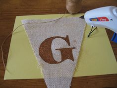 How to paint letters on burlap.