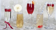 Champagne drinks for New Year's or any day!  #champagne #newyears #holiday