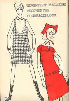 Courreges McCall's Pattern Ad 1965 by nurse_marbles, via Flickr
