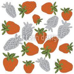 Hochqualitative Vektor-Muster auf patterndesigns.com - Rote-Erdbeeren-Design, designed by Birgit Schlegel