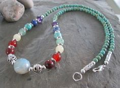 Chakra necklace  Gemstones to represent by PumpkinHollowCreatns
