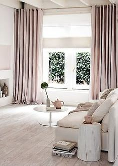 pale blush living room