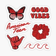 Red Aesthetic stickers featuring millions of original designs created by independent artists. Decorate your laptops, water bottles, notebooks and windows. 4 sizes available. Rainbow Aesthetic, Aesthetic Colors, Aesthetic Collage, Tumblr Stickers, Cool Stickers, Printable Stickers, Logo Sticker, Sticker Design, Homemade Stickers