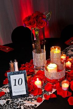 red bling centerpieces | Red Bling Trio :: Metro Detroit Michigan wedding bouquets,centerpieces ...